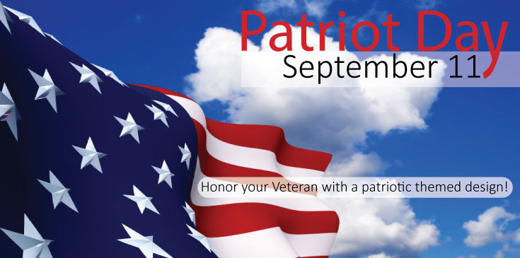Send your favorite veteran or patriot one of our red, white and blue themed floral designs.