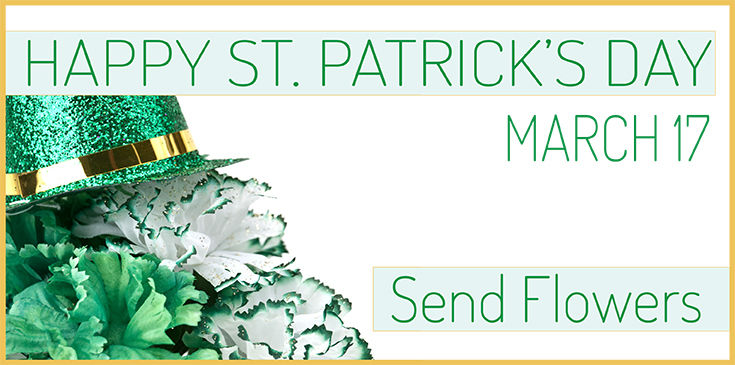Dont' forget your green carnations for St. Patrick's Day.